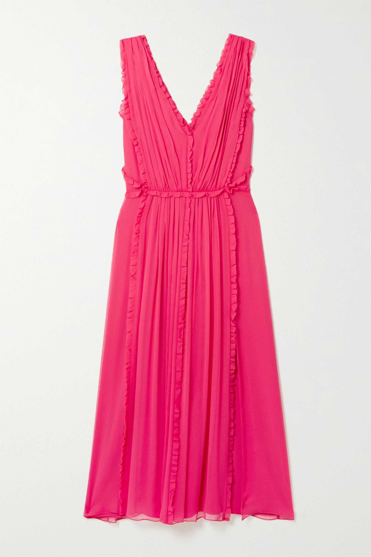 Jason Wu Ruffled silk-crepon midi dress