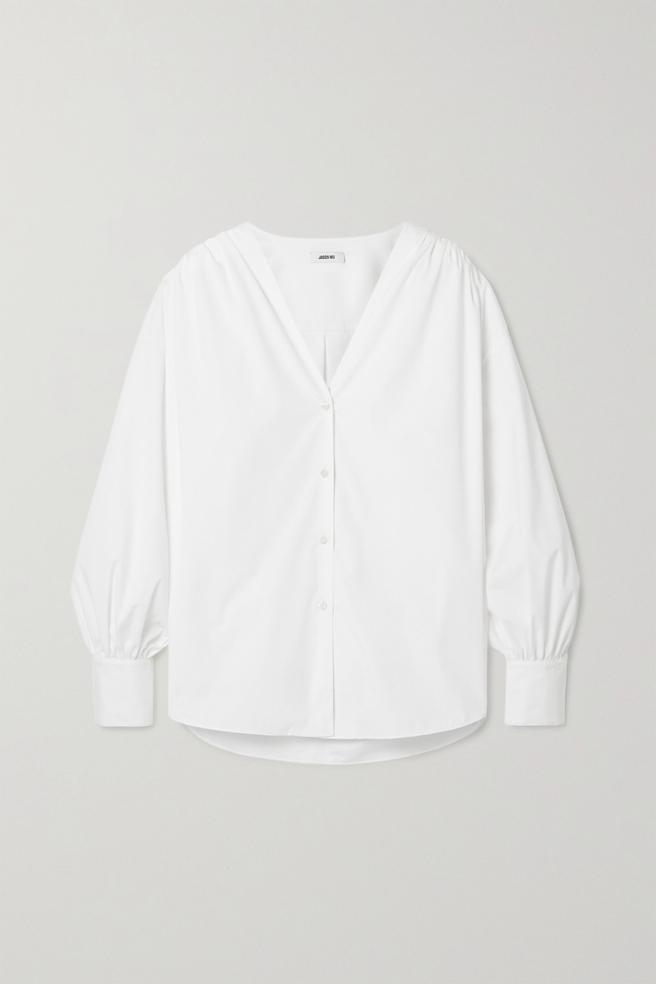 Jason Wu Oversized cotton-blend poplin shirt
