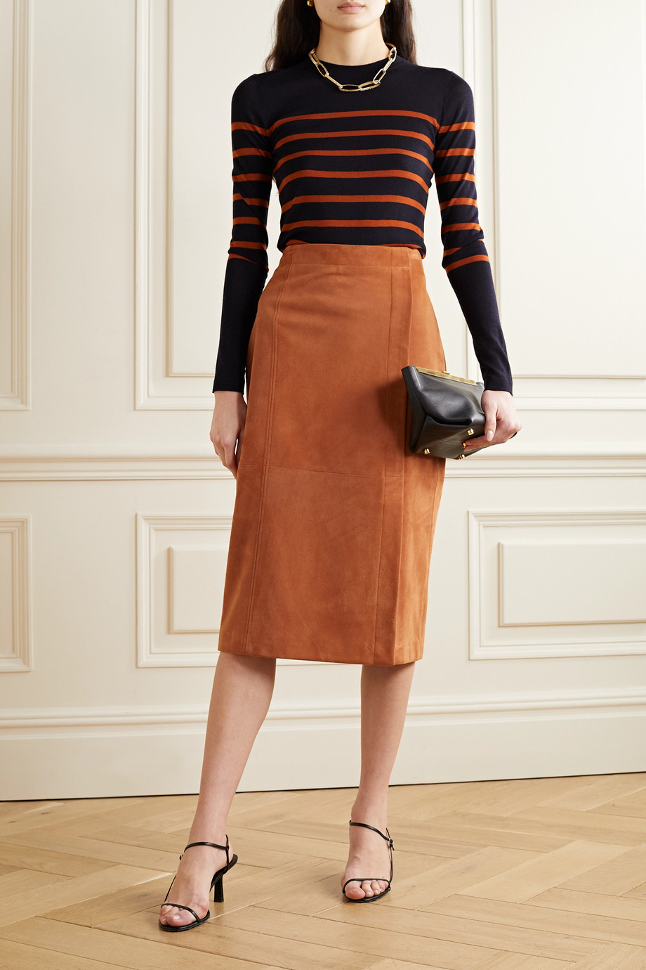 Jason Wu Suede midi skirt