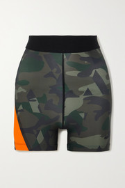 AARMY Juliet camouflage-print stretch shorts