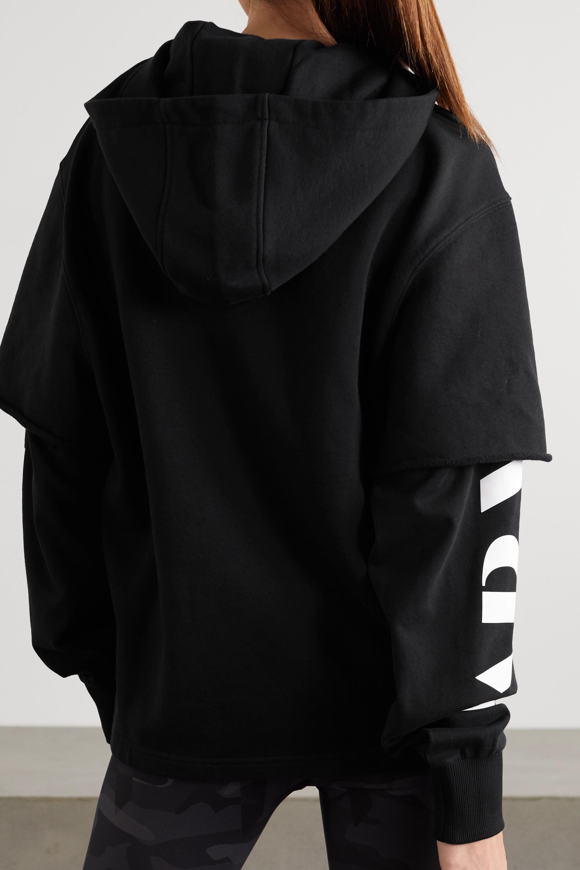 AARMY Mehrlagiger Hoodie aus Baumwoll-Jersey mit Print