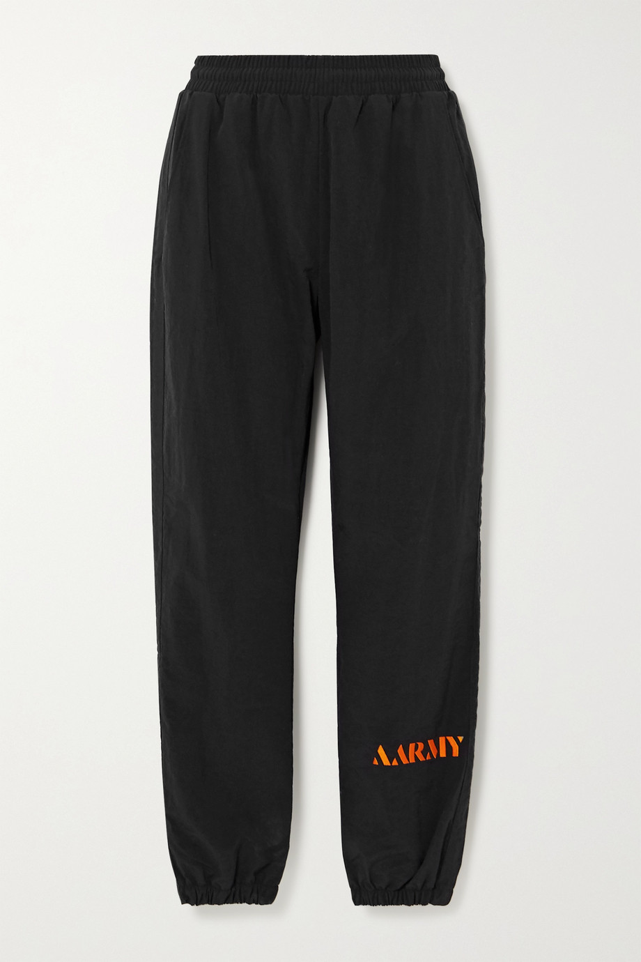 AARMY Embroidered shell track pants