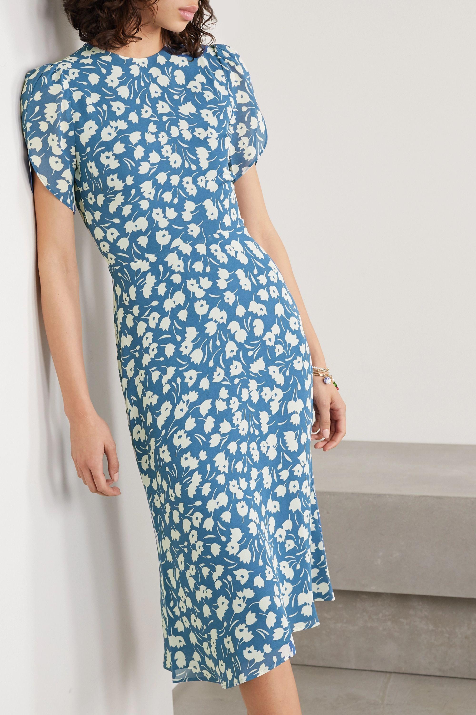 Reformation Andre floral-print crepe midi dress