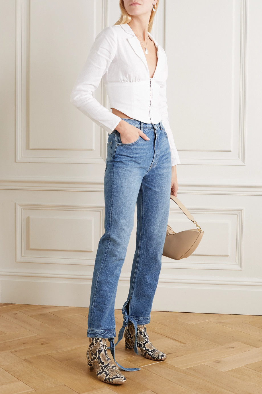 Reformation Chiara high-rise straight-leg jeans