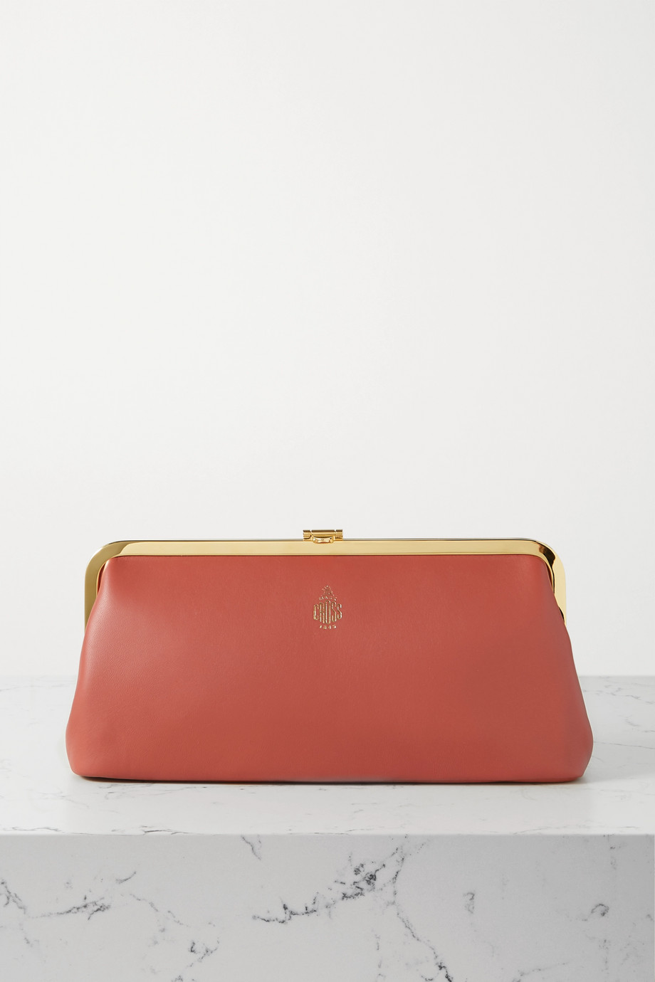 Mark Cross Susanna Frame leather clutch