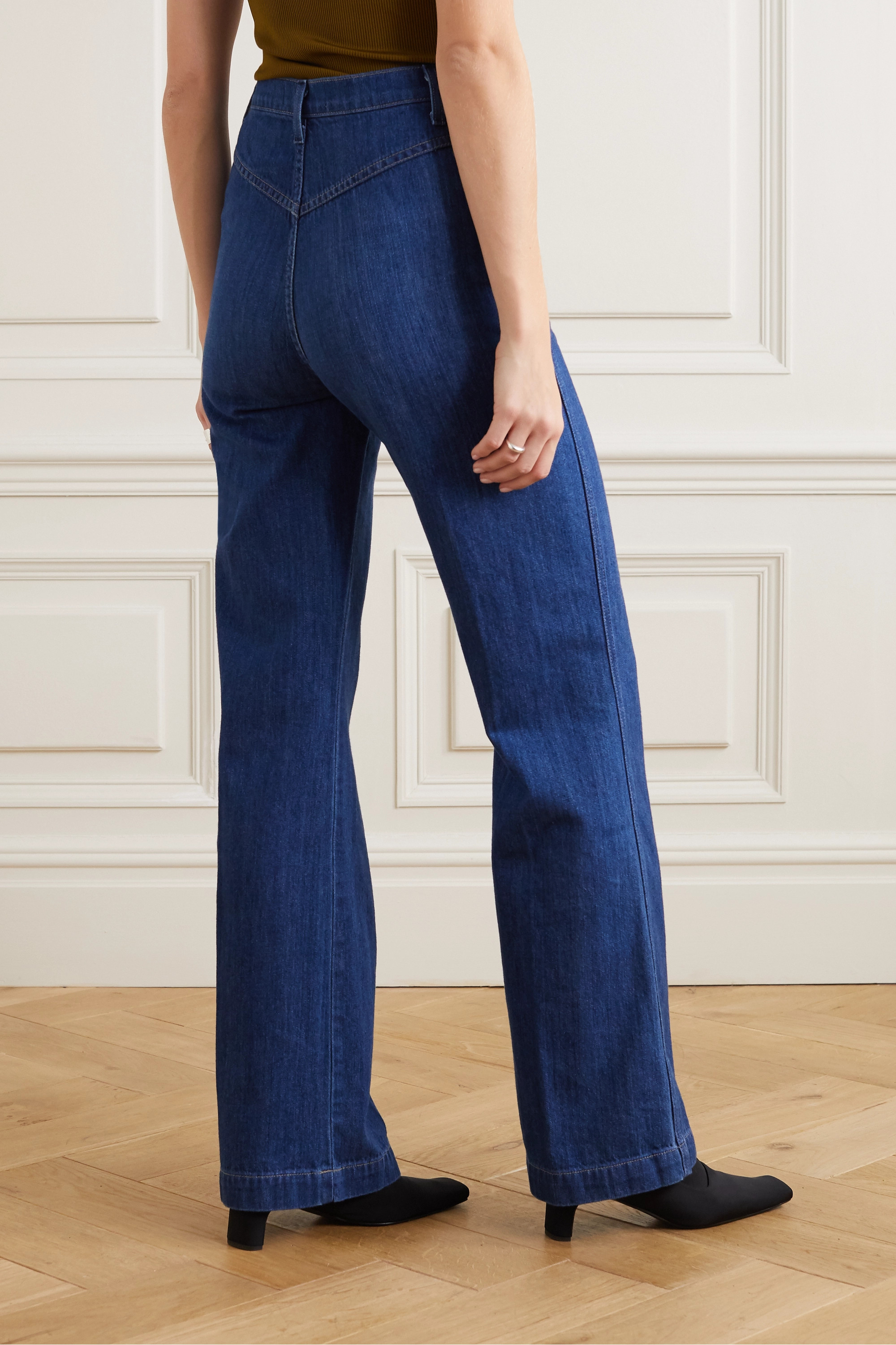 Reformation High-rise wide-leg jeans