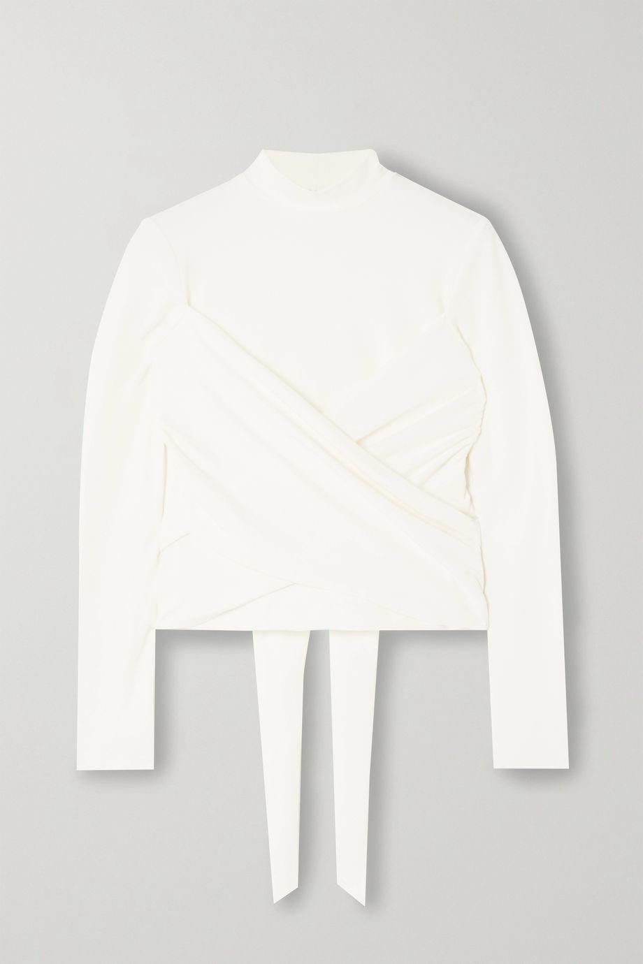 Reformation Haut raccourci torsadé en jersey de coton stretch Lia - NET SUSTAIN