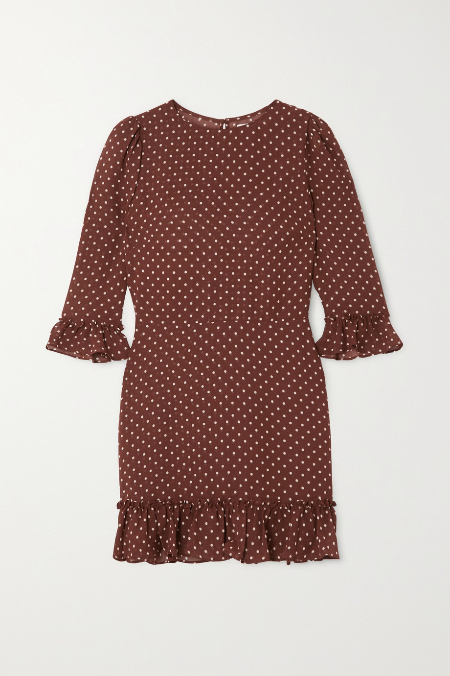Reformation Doutzen ruffled polka-dot voile mini dress