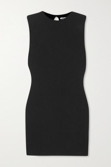 Reformation - + Net Sustain Rumi Stretch-tencel Mini Dress - Black