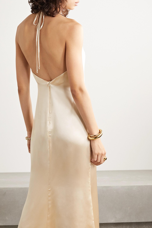 Reformation + NET SUSTAIN Reggie silk-satin halterneck midi dress