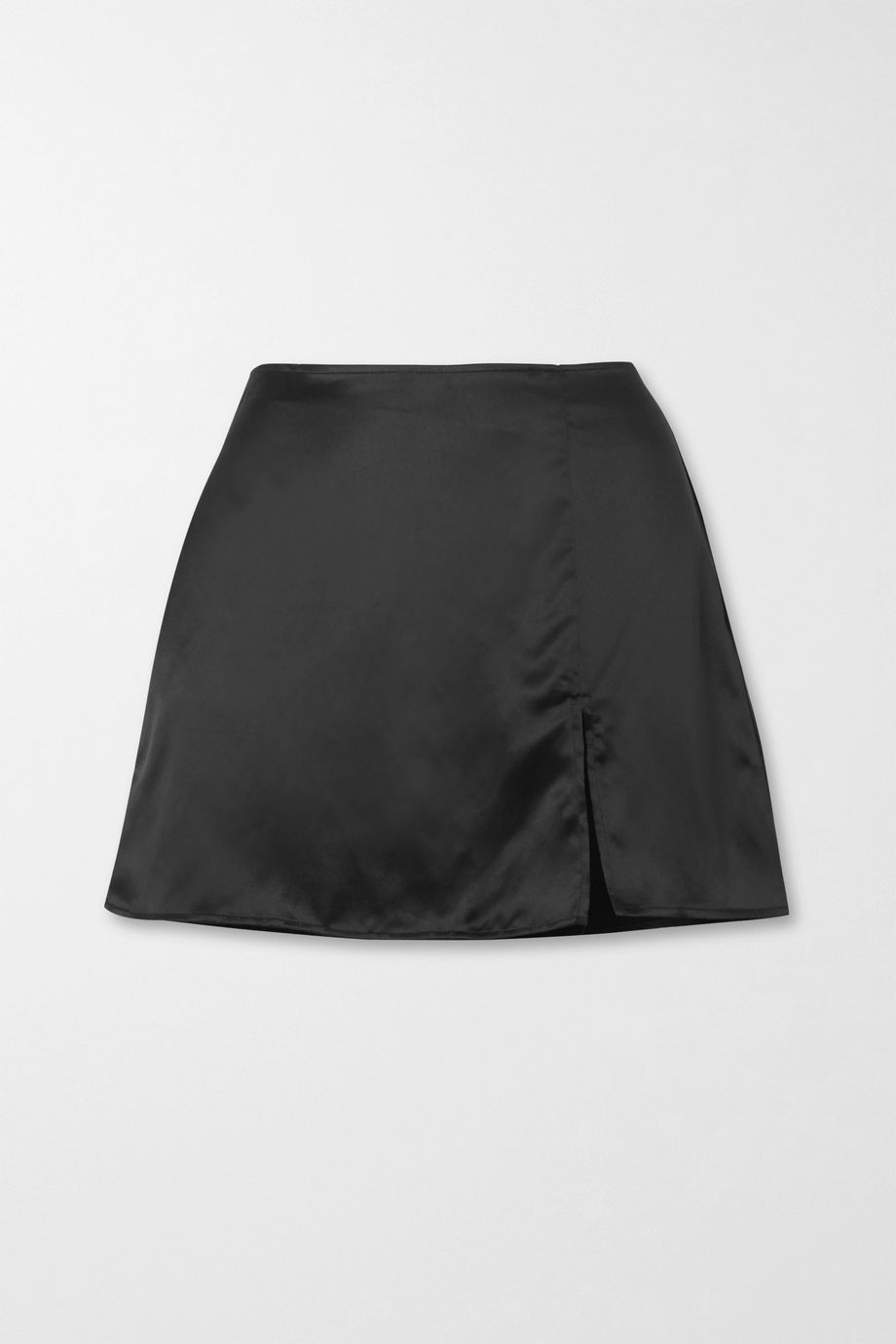 Reformation + NET SUSTAIN Robbie silk-charmeuse mini skirt