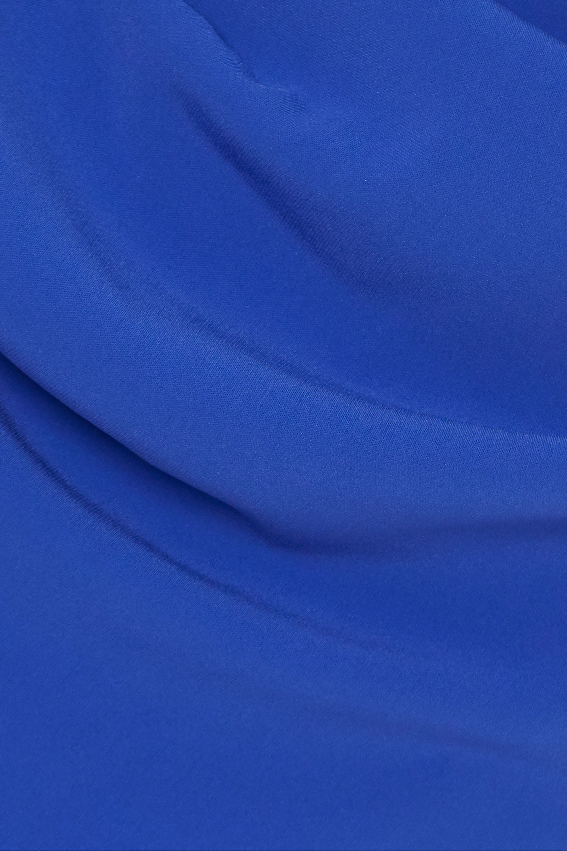 Talbot Runhof Rosedale drapierte Robe aus Crêpe mit Cape-Effekt