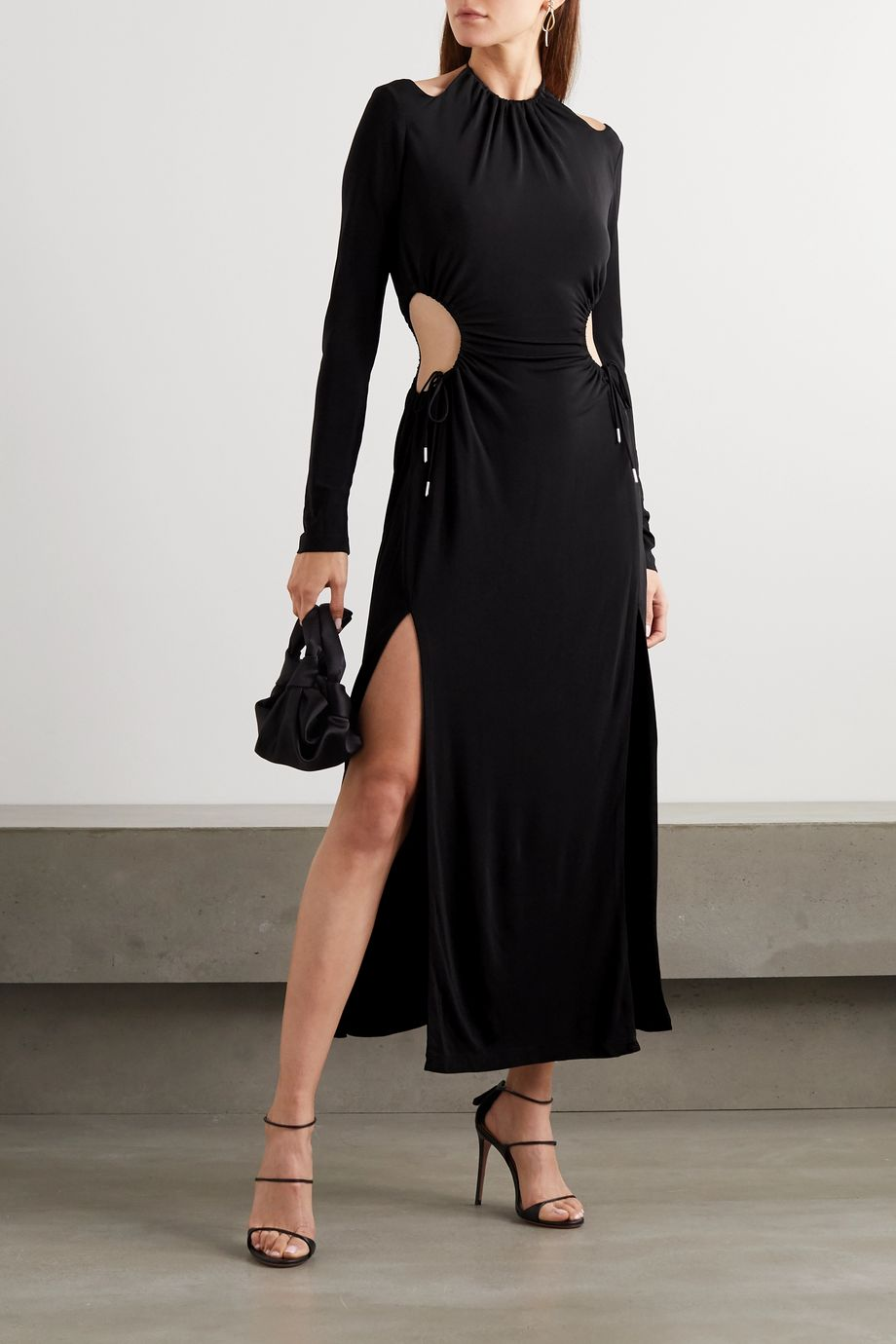 Dion Lee Cutout gathered jersey maxi dress