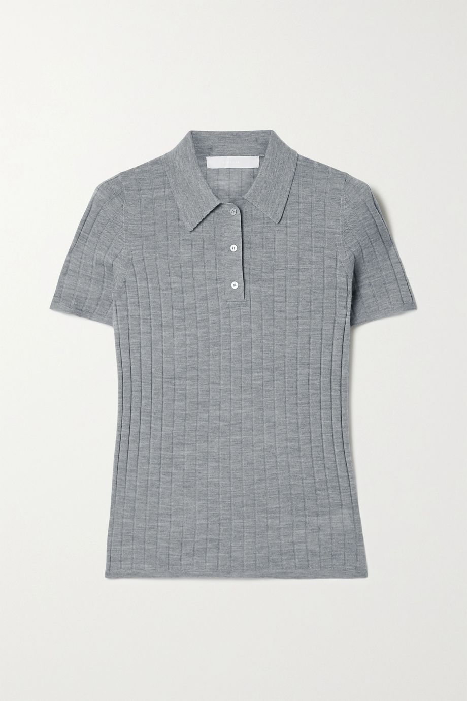 Dion Lee Ribbed merino wool polo shirt