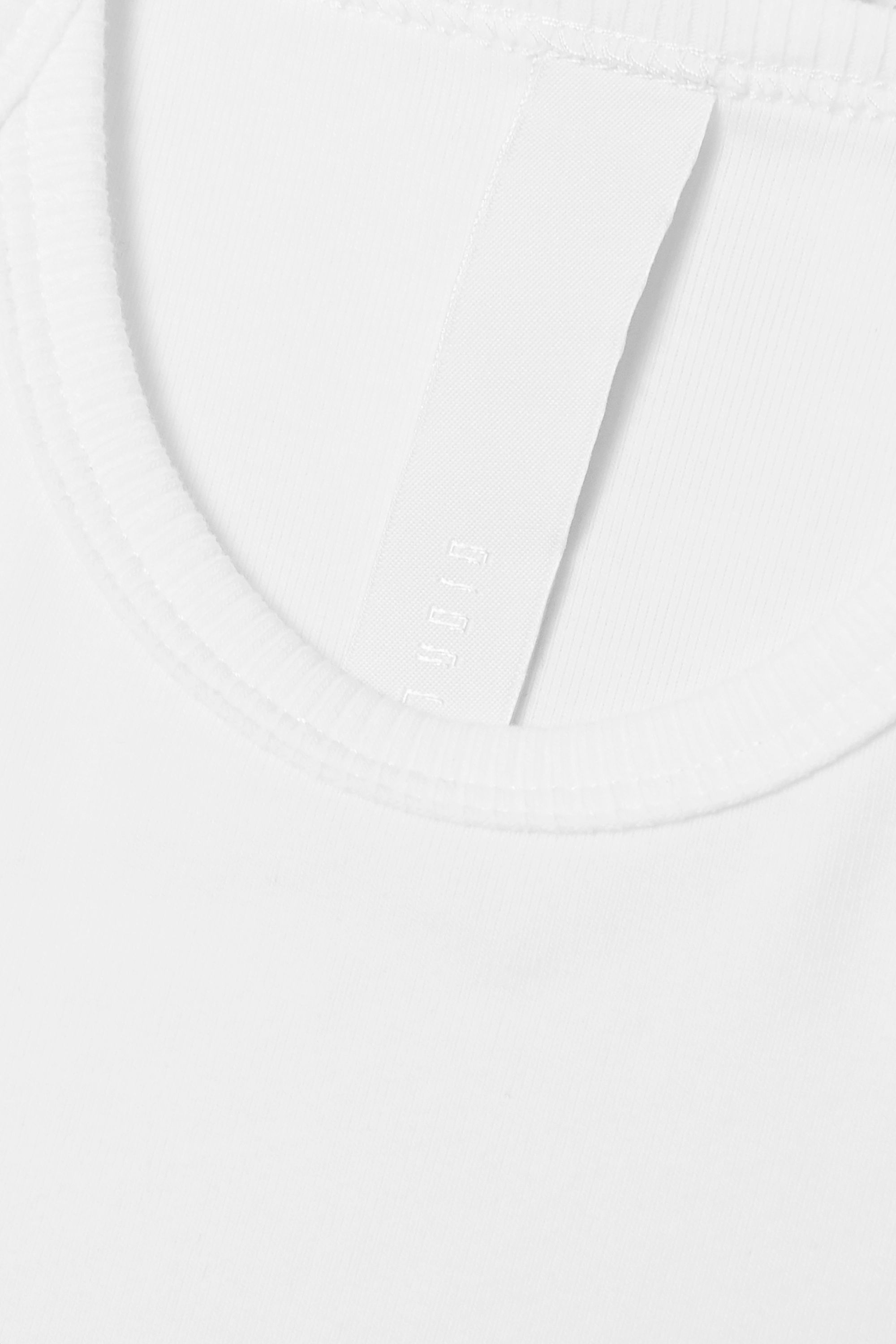 Dion Lee Cropped tie-detailed cotton-blend jersey tank