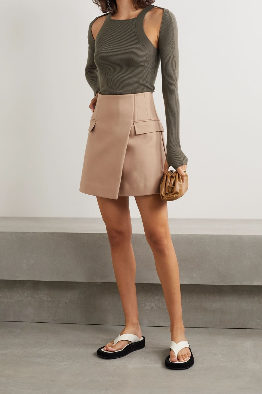 Dion Lee Frame cotton-blend mini skirt