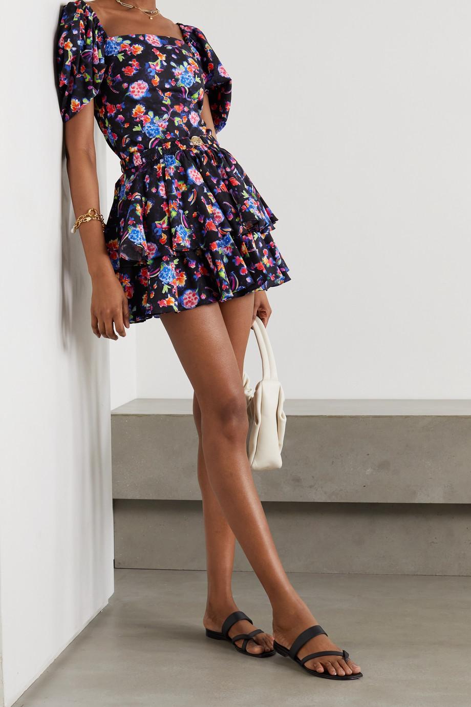 Caroline Constas Eliana floral-print cotton-blend top