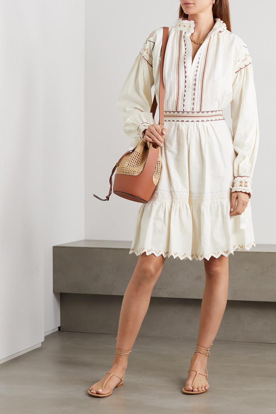 Etro Embroidered cotton mini dress
