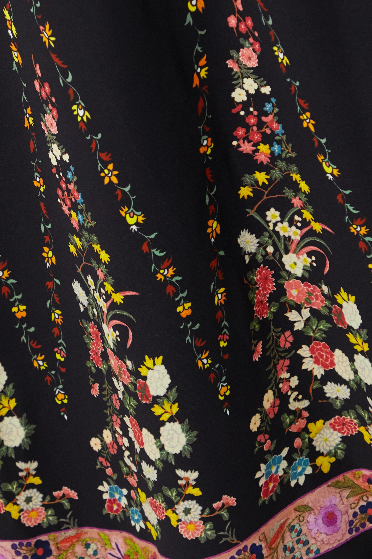 Etro Floral-print crepe de chine dress