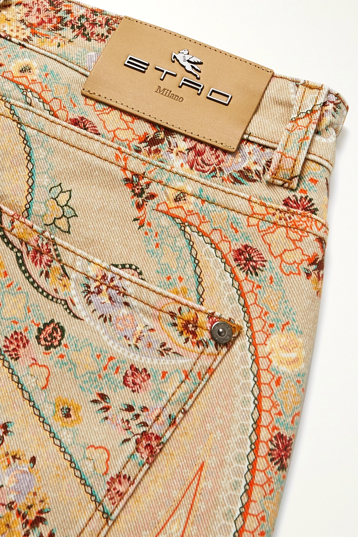 Etro Paisley-print high-rise skinny jeans