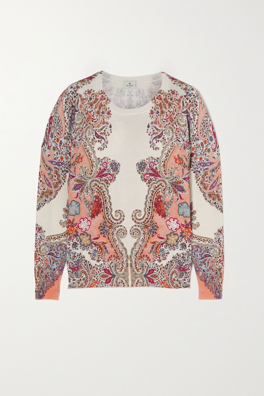 Etro Paisley-print stretch-silk sweater