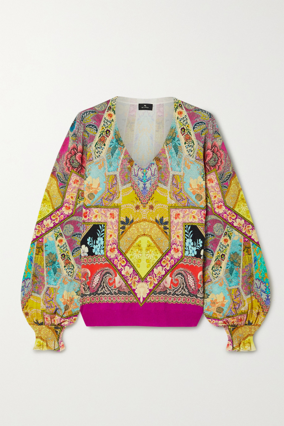 Etro Printed silk-blend sweater
