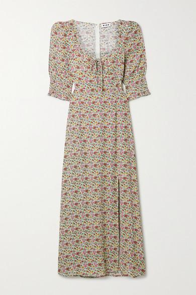 RIXO - Naomi Floral-print Georgette Midi Dress - Pink