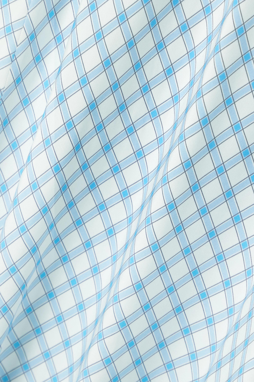 RIXO Steph tie-back gingham crepe de chine midi dress
