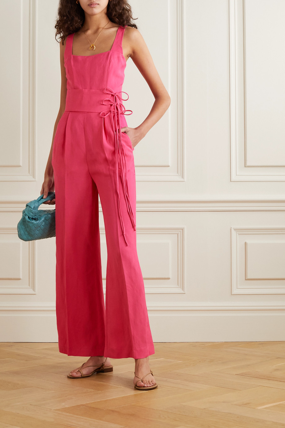 USISI SISTER Gloria belted woven jumpsuit