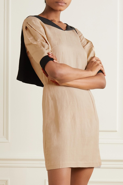 USISI SISTER Alex zweifarbiges Minikleid aus einer Leinenmischung