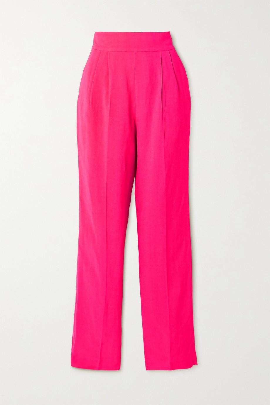 USISI SISTER Flora pleated woven straight-leg pants