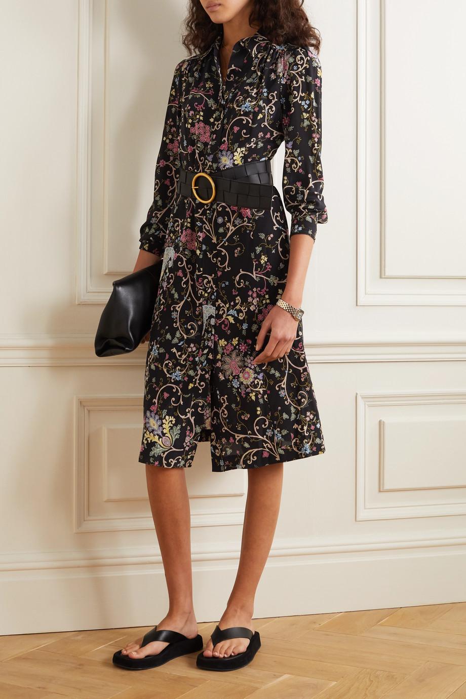 Etro Floral-print silk crepe de chine midi dress