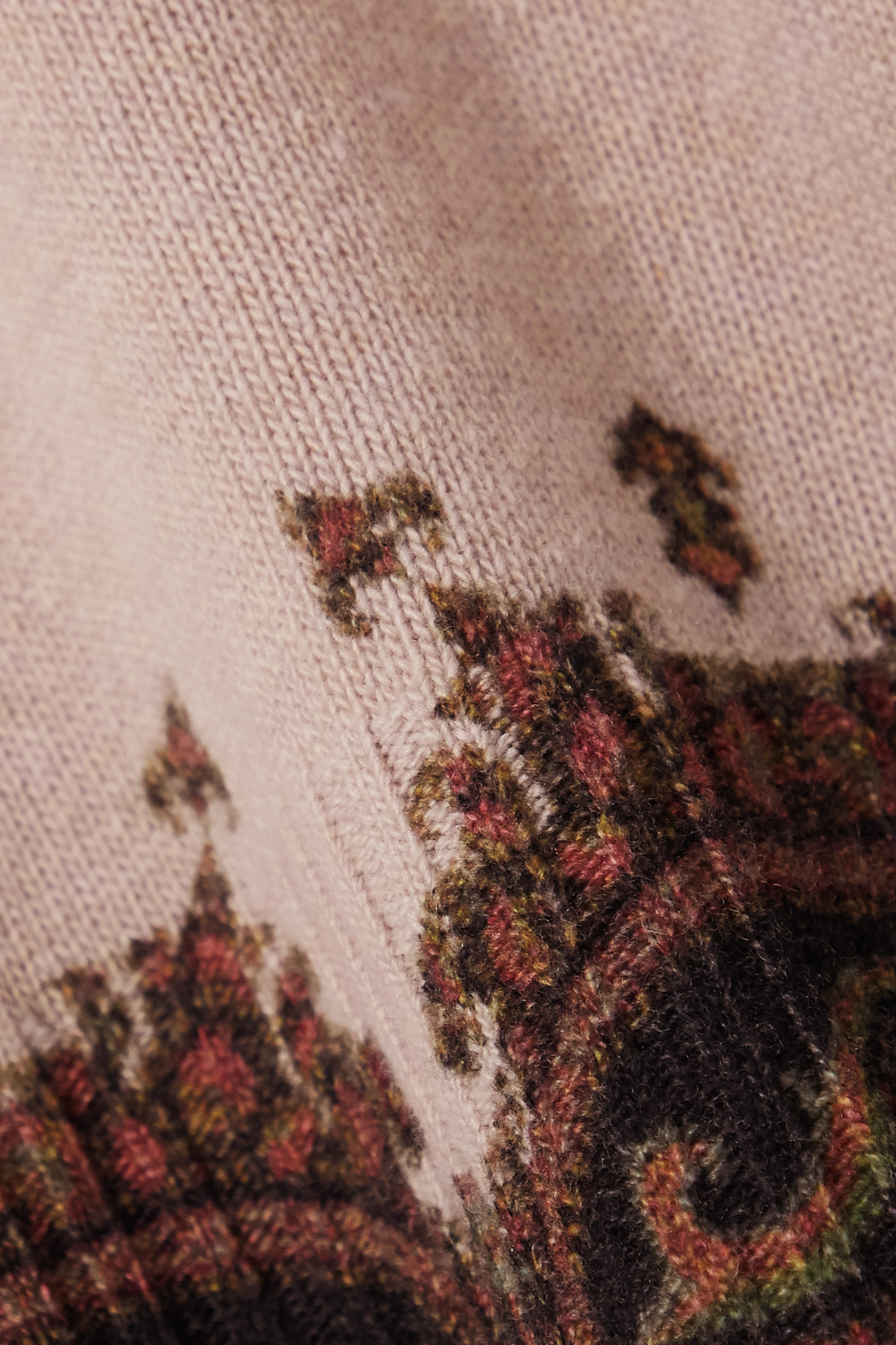 Beige Wool And Cashmere-blend Jacquard Sweater   Etro