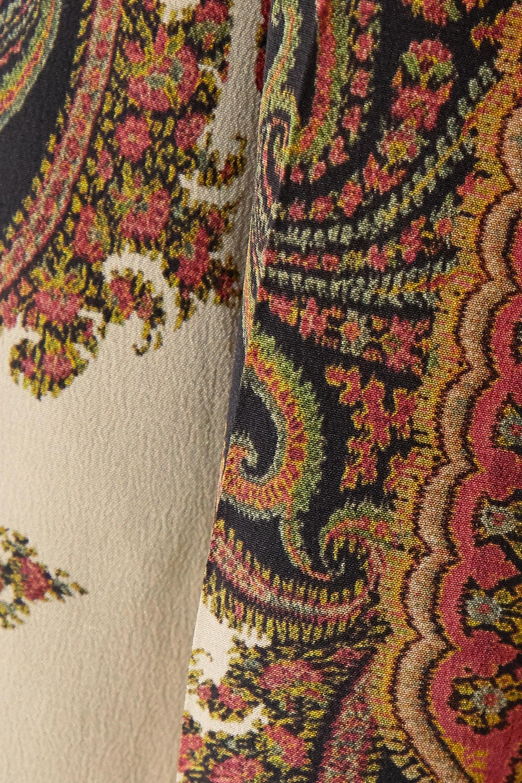Etro Printed silk wide-leg pants