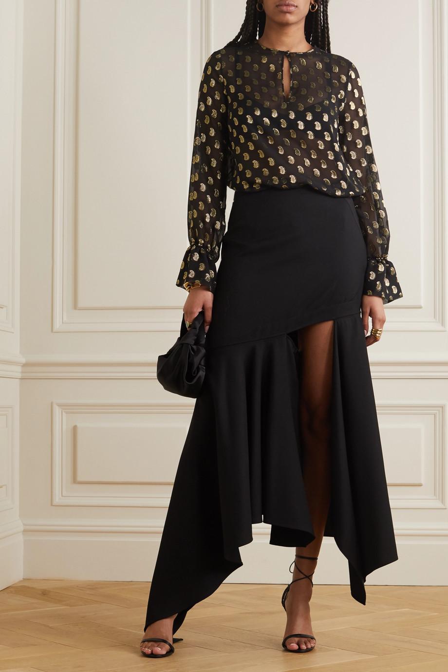 Etro Metallic fil coupé silk-blend georgette blouse