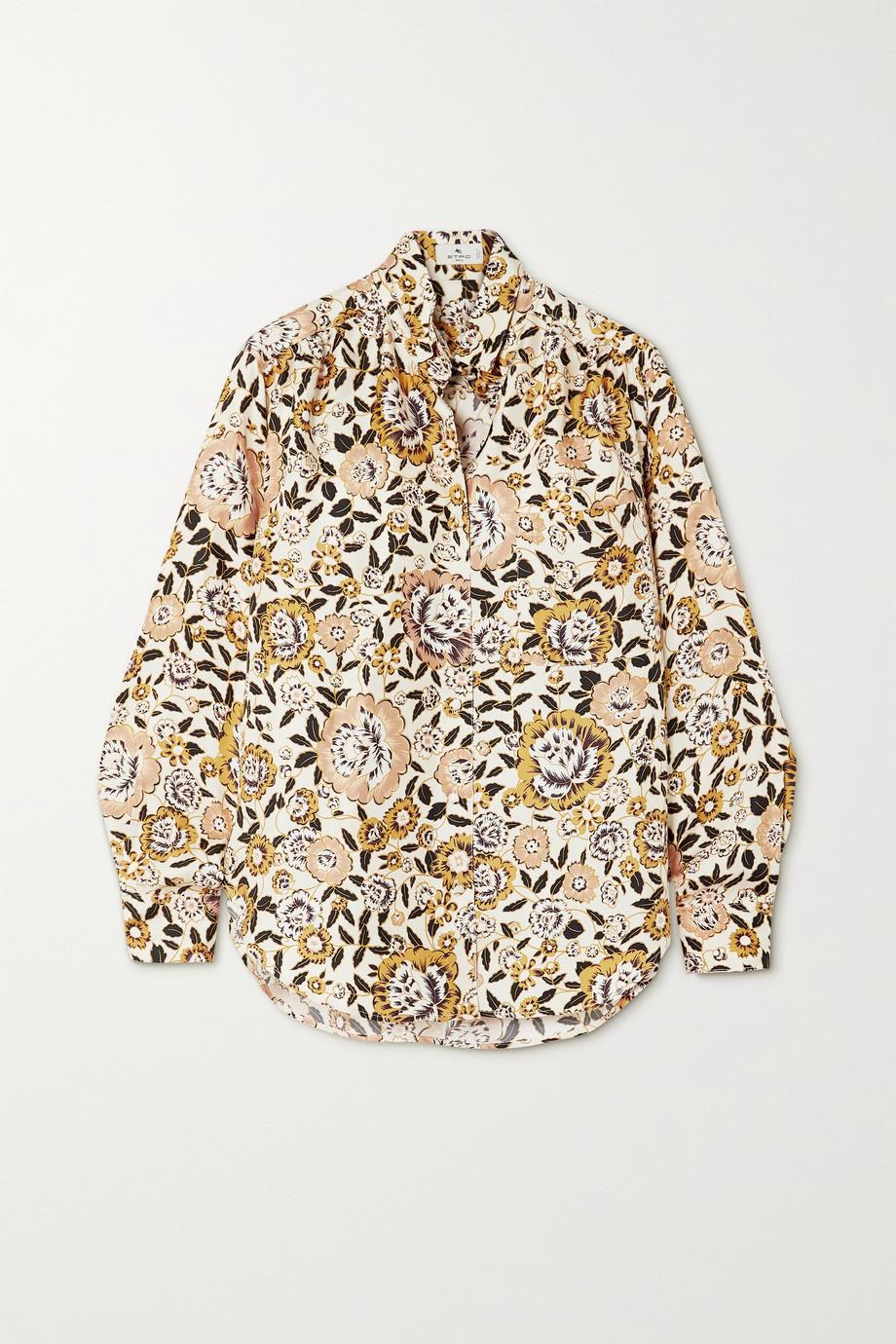 Etro Floral-print silk-twill shirt