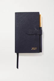 Smythson 2021 Panama Diary textured-leather notebook