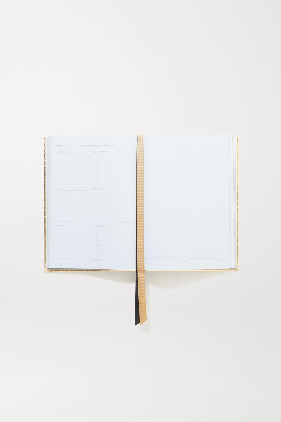 Smythson 2021 Soho Diary metallic textured-leather notebook