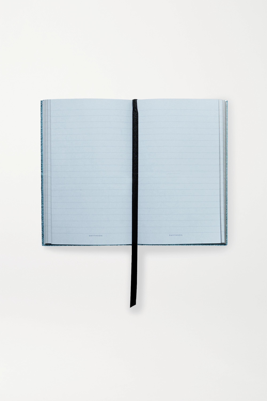 Smythson Kalender aus strukturiertem Metallic-Leder mit Print