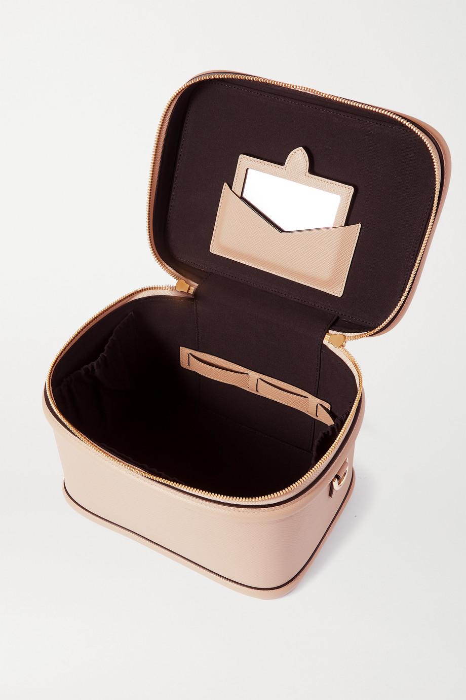 Smythson Panama Kosmetikkoffer aus strukturiertem Leder