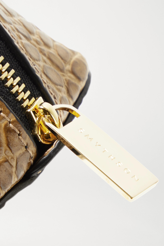 Smythson Kosmetiktasche aus Leder mit Krokodileffekt