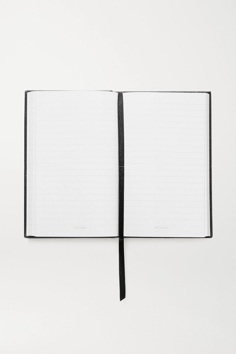 Smythson + NET-A-PORTER Notizbuch aus strukturiertem Leder