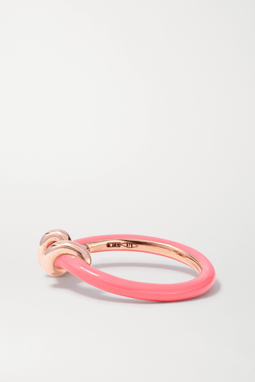 Bea Bongiasca Baby Vine 9-karat rose gold and enamel ring