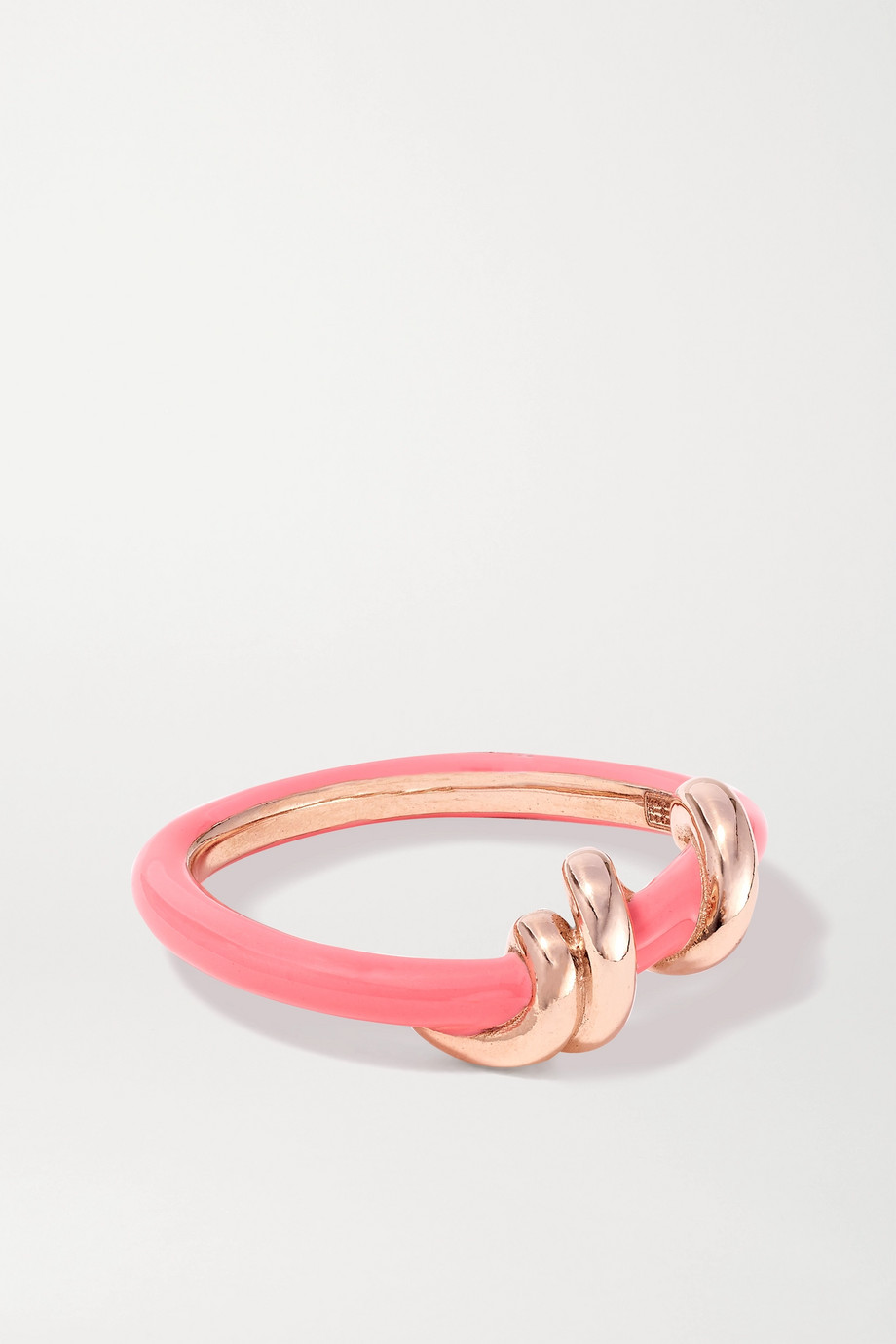 Bea Bongiasca Baby Vine 9-karat rose gold and enamel ring