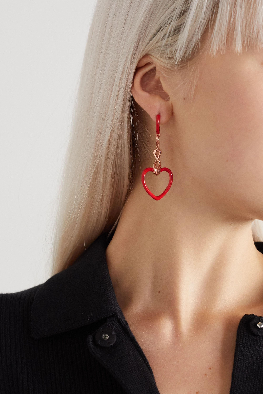 Bea Bongiasca 9-karat rose gold and enamel earring