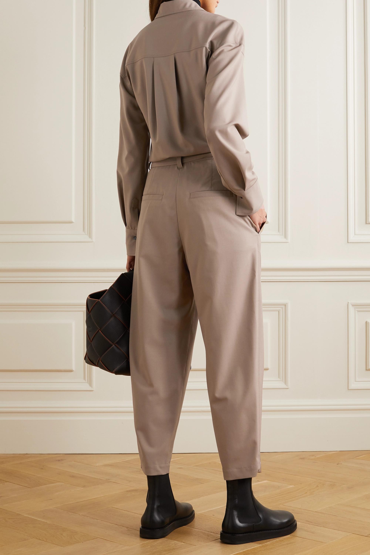 Brunello Cucinelli Jumpsuit aus Stretch-Wolle mit Zierperlen