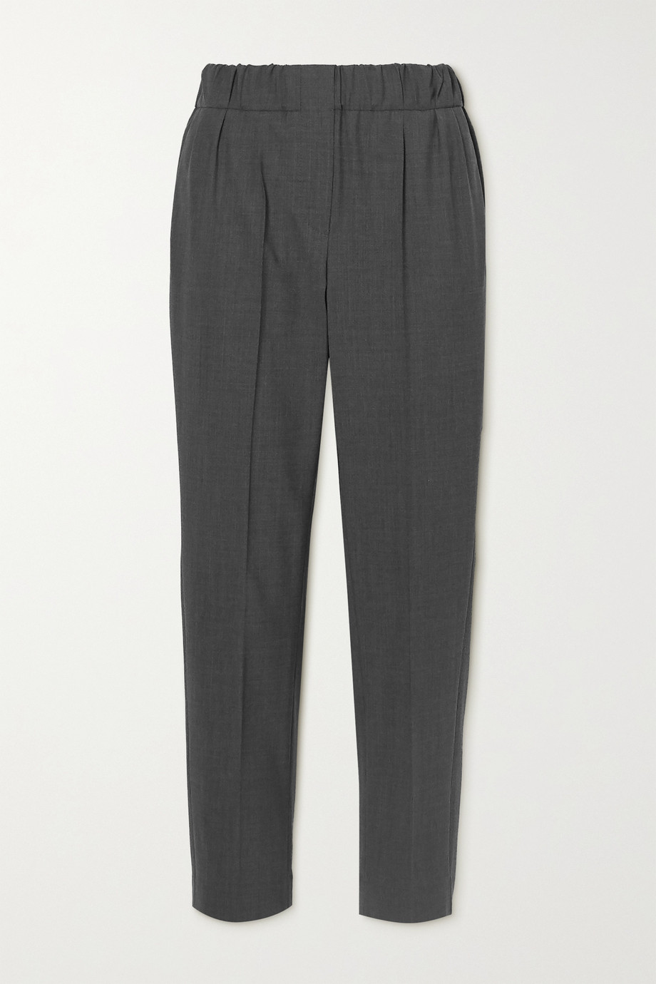 Brunello Cucinelli Cropped wool-blend straight-leg pants