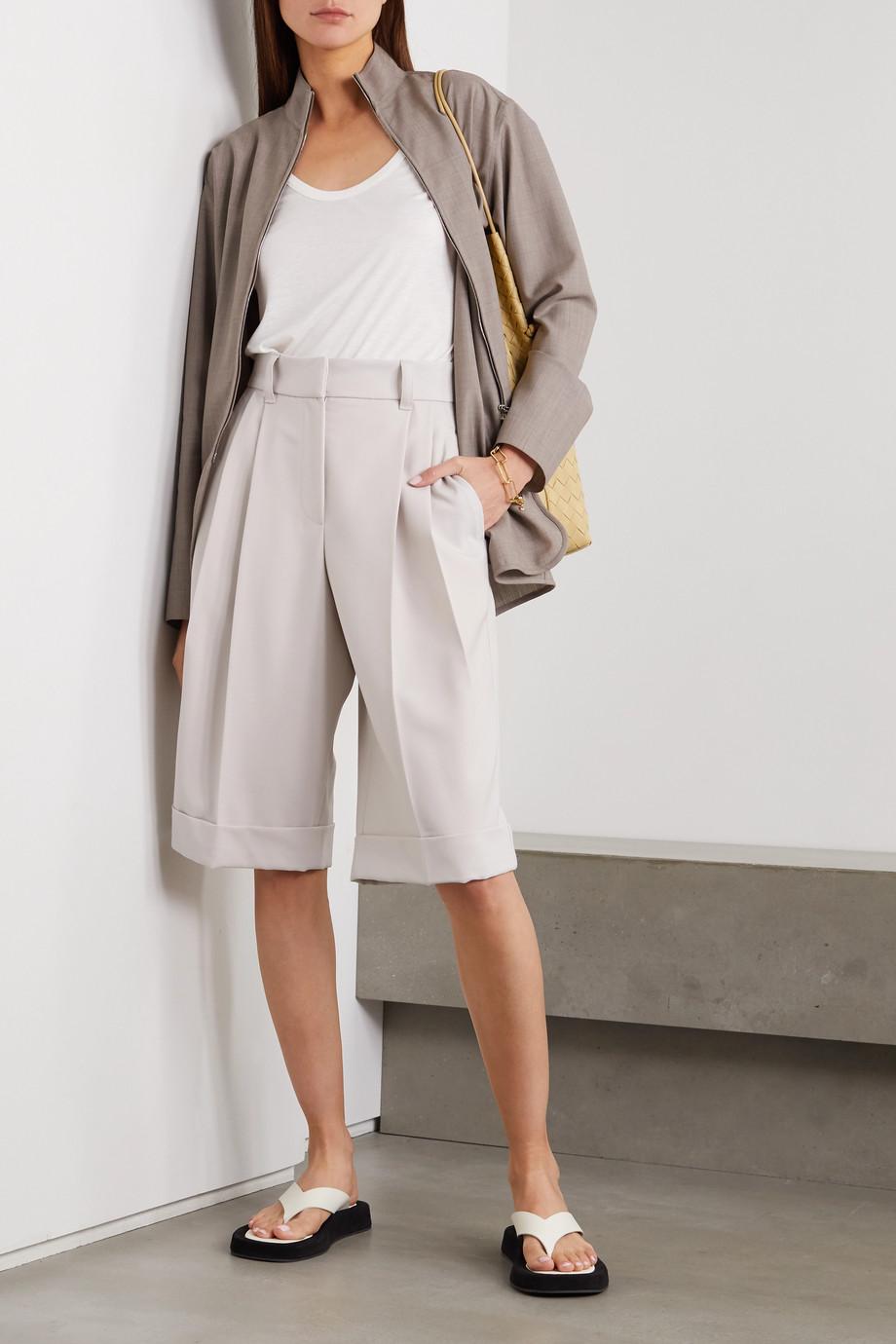 Brunello Cucinelli Pleated wool-twill shorts
