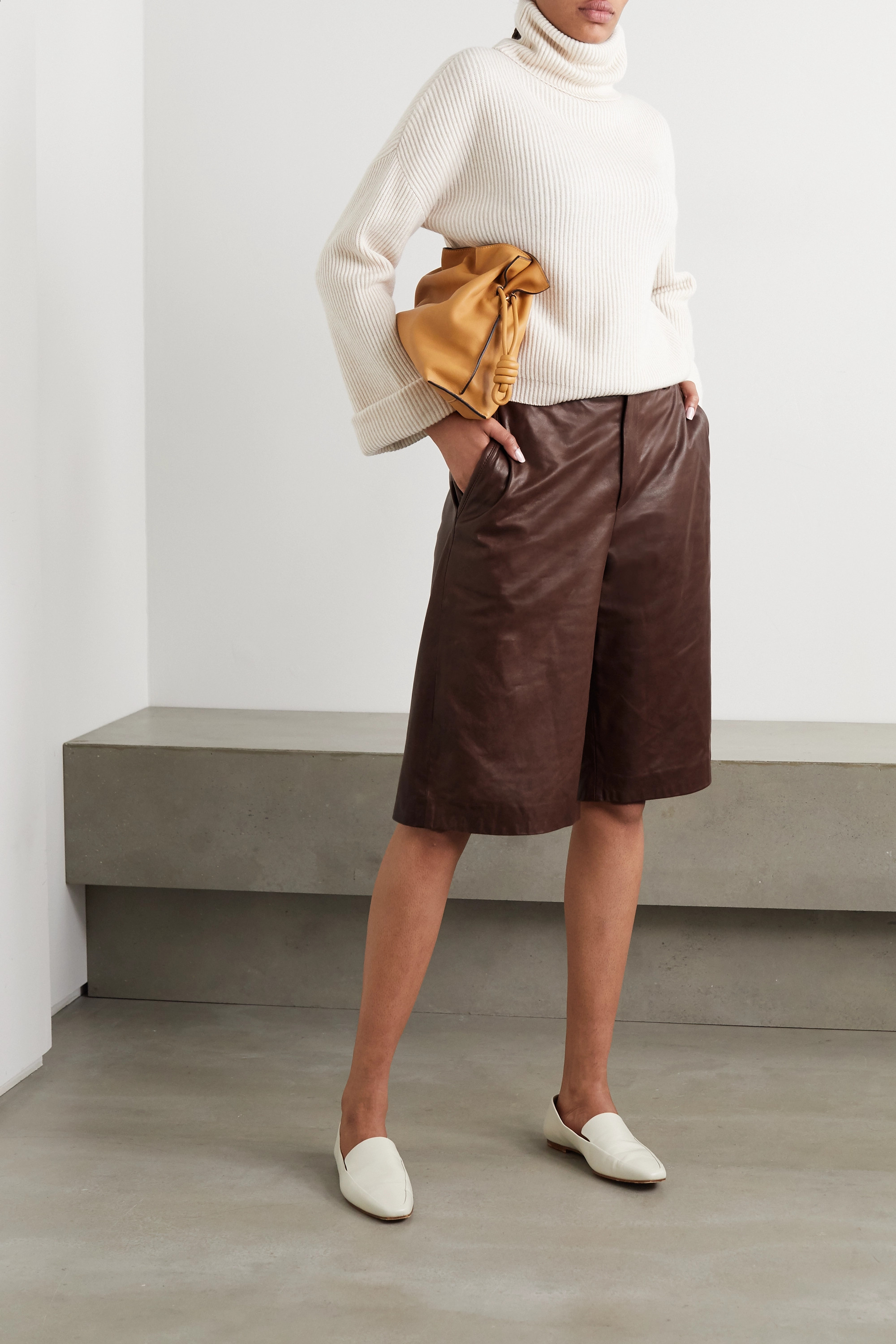 Brunello Cucinelli Leather shorts