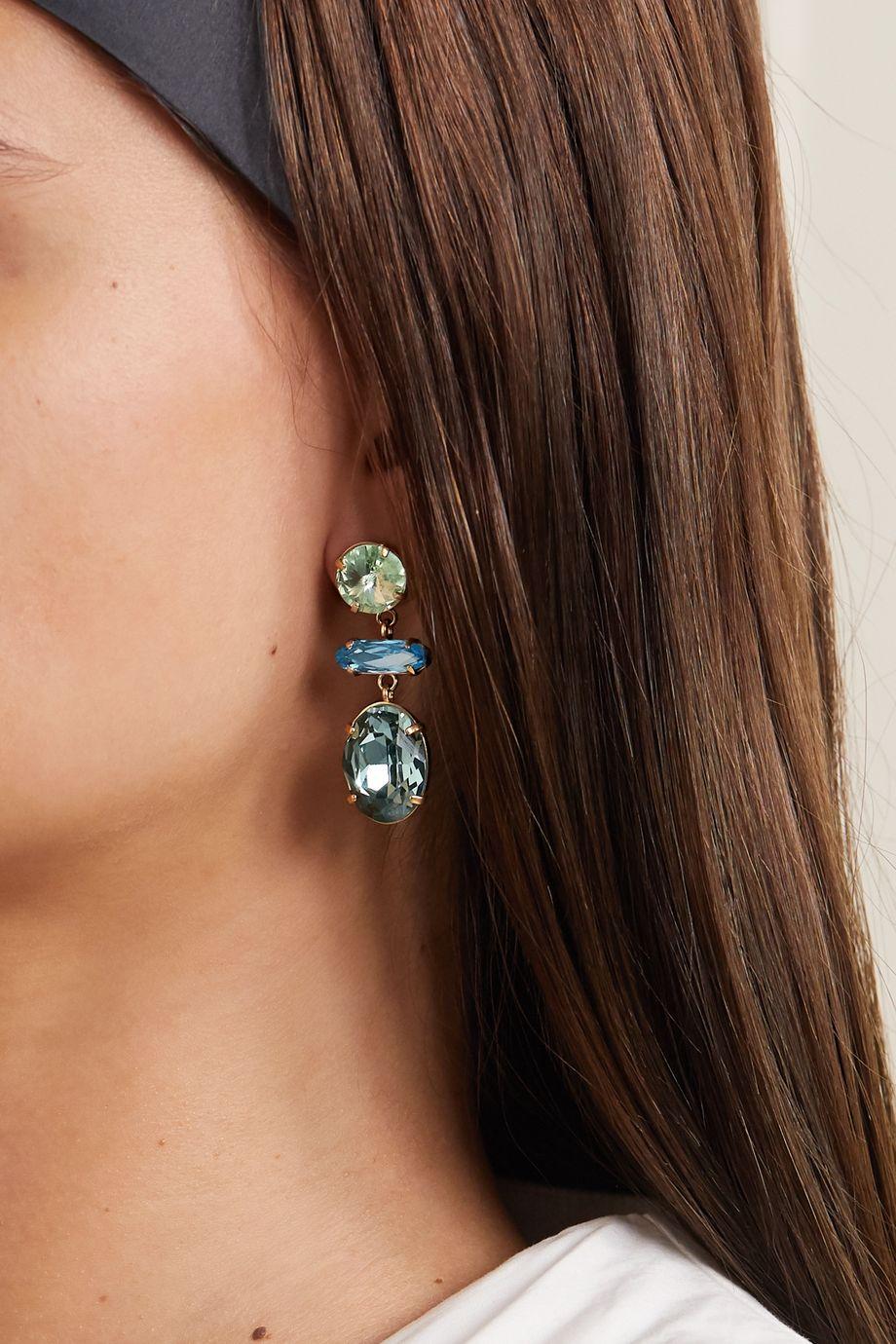 Roxanne Assoulin Hip-Hop But Not Baby vergoldete Ohrringe mit Swarovski-Kristallen